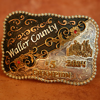 Waller County Belt Buckle Award