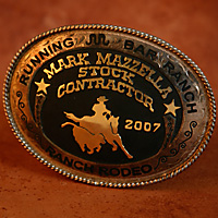 Running Bar Ranch Belt Buckle Award
